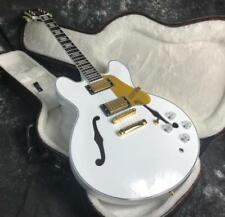Semi Hollow Body 335 Electric Guitar Maple Body White Color Gold Hardcare Stock