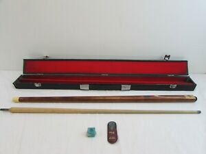 TWO PIECE SNOOKER/POOL CUE WITH HARD CASE  (EAGLE R.R.)                   #NSDC#