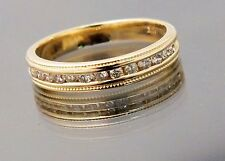 Cartier Wedding Band Ring Ladies .25 ctw Diamonds 14k Yellow Gold Size 5.5