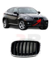 Pour BMW X6 08-13 Neuf Avant Pare-Choc Centre Rein Grille Noir/Chrome Gauche N /