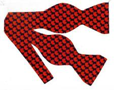 Scottish Terriers Bow tie / Black Scotties on Red Houndstooth / Self-tie Bow tie