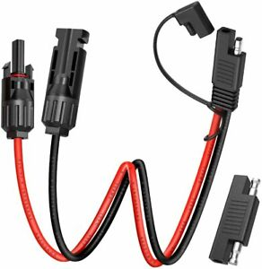 Electop Solar Panel Connector Cable, 10AWG SAE Connector to Male & Female Solar
