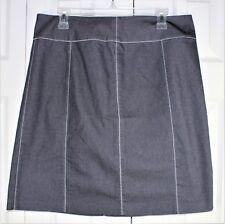Womens Sigrid Olson Sport Gray ZigZag Stitch  denim stretch skirt size 12