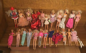 Barbie Mixed Lot of 23 Dolls w/Clothing Various Years-Some Vintage w/ Skipper