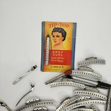 VINTAGE, Metal Hair Curlers/Perm Rods, Lot. Used, Multi Shapes/Sizes.