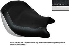 Blanco & Negro Custom encaja Honda Vtx 1800 02-04 Frontal De Cuero Funda De Asiento