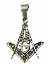 Freemason-Masonic Pendant .925 Sterling Silver - Freemason Pendant Silver Mexico