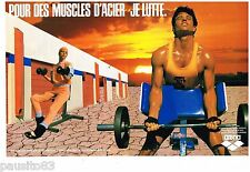 PUBLICITE ADVERTISING 105  1986  ARENA   vetements sport FITNESS ( 2p)
