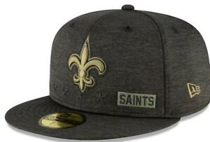 2020 New Orleans Saints New Era NFL Salute to Service 59FIFTY Fitted Hat 7 1/8