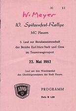 10. Spitzenfest-Rallye MC Plauen/1982/3. Lauf zur Bezirksmeisterschaft/ADMV