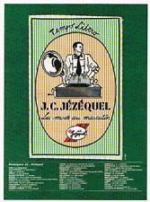 PUBLICITE ADVERTISING   1986  J.C  JEZEQUEL   la mode au masculin