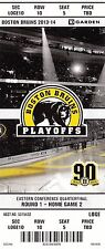 2014 BOSTON BRUINS VS DETROIT RED WINGS PLAYOFFS GAME #2 TICKET STUB CHARA
