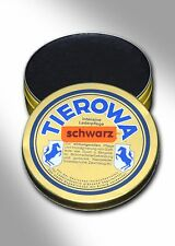 (8,50€/100ml) TIEROWA Lederfett 20 ml SCHWARZ - Reiten - Lederpflege