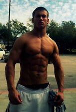 Shirtless Male Body Builder Pumped Muscular Physique Ripped Abs PHOTO 4X6 N94