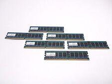 Lot of 6 PC2-3200R 333 12 H1 1GB (6x1GB) 1RX4 Memory Kit Nanya NT1GT72U4PA0BV-5A