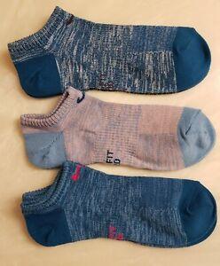 3 Women's Nike No Show Socks Dri-Fit (Blue Multi)
