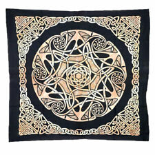 "NEW Celtic Star Altar Cloth 40"" Printed Cotton Table Cover or Wall Hanging"