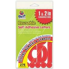 Pacon Reusable Self-adhesive Letters - Uppercase Letters, Punctuation Marks,