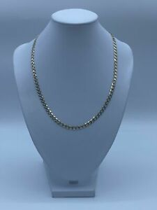 """9ct Gold Curb Chain For Kids - 18"""", 5mm, 9.9g"""