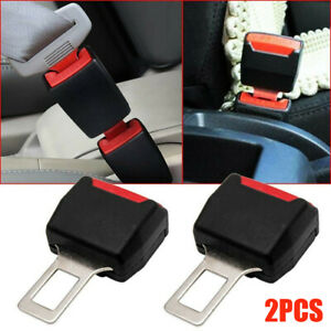 2x Universal Type Car SUV Seat Safety Belt Buckle Extender Alarm Eliminator