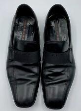 PRADA Men's Loafers Slip Ons Sz US 7.5 Black Leather Driving Comfort Shoes