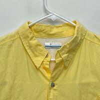Columbia Sportswear Mens PFG Fishing Shirt Yellow Large