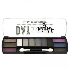 L.A. Colors Makeup Long Lasting Day to Night Eyeshadow Palette CES426 Nightfall