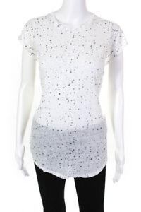 IRO Jeans Womens Sleeveless Crew Neck T-Shirt Top White Size M