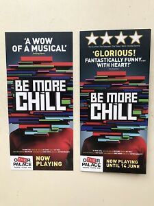 BE MORE CHILL  The Musical 2 Different FLYERS london Palace theatre