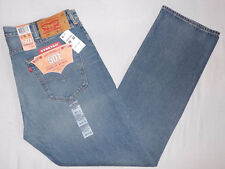 LEVI'S 501 MEN'S STRAIGHT LEG BUTTON-FLY LEVIS JEANS 38X32 STRETCH W38L32 #2333