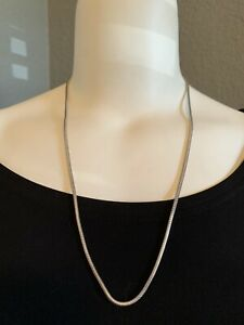 """Tiffany & Co. Sterling Silver Snake Chain 24"""" Long Beautiful!! Pouch & Cloth"""