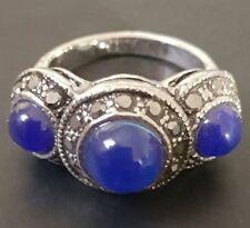 Lapis Lazuli Silver Plated Fashion Rings