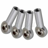 2.6cm Aluminum Alloy Rod End Ball Joints Fit for M4 Stud Bolt Pack of 4 Silver