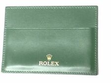ROLEX Document Holder Credit Card version Green Leather