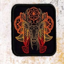 Deer stag patch Iron to sew on badge