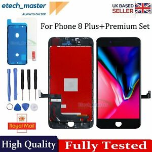 For iPhone 8 Plus LCD Digitizer Replacement Screen Touch Premium Assembly Black