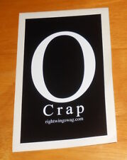 O Crap Right Wins Wag Sticker Original Promo (rectangle) 5.5x3.5