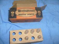 Box of 5 Mazda No. 48  Miniature Radio Panel Lamps Light Bulbs 2V 0.06A   /l1