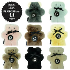 FLATOUT BEAR - Flat Out - Australian Sheepskin - Large 30CM SIZE - Choose Colour
