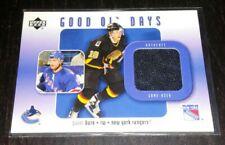 2002 Upper Deck PAVEL BURE Good Ol' Days Game Used Jersey Card - Rangers/Canucks