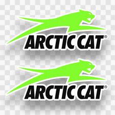 2x ARCTIC CAT Decal Vinyl Sticker Car Truck Snowmobile Trailer Sled Snow