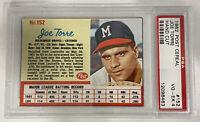 1962 Topps Post Cereal Joe Torre Hand Cut Graded PSA 4 Milwaukee Braves Card