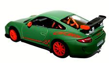 Porsche 911 GT3 RS Diecast Model Car Racing Green Opening Doors 1:36 Scale NEW