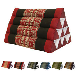 Thai Triangle Pillow Pad Cushion Handmade 100% Kapok Cotton 6 colours AU STOCK