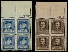 #867-68 PB 1940 5 AND 10 CENTS FAMOUS AMERICAN POETS ISSUES MINT-OG/NH