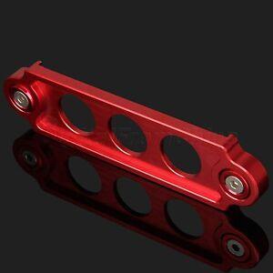 For 06-14 Honda Civic 00-09 S2000 Battery Tie Down Bracket Holder Aluminum Red