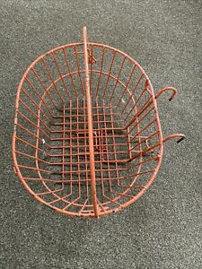 Vintage/ Retro Bicycle Front Wire Basket ( Large) Red Prompt UK Post