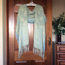 Exquisite pashmina /scarf/ cover up super quality silk classy pale blue cruise?