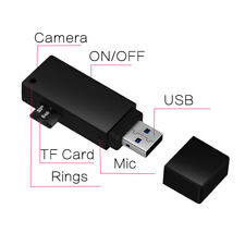 1080P Spy Hidden Mini Cam USB Camcorder Home Surveillance Pinhole DV DVR Black