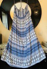 BNWOT Monsoon Blue Boho Maxi Dress Size 20+ Beach Halterneck/Strapless